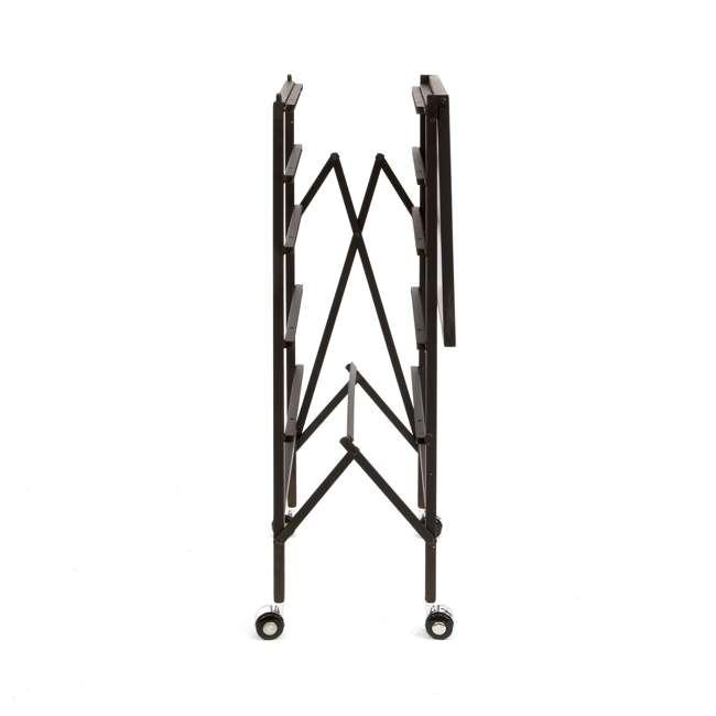 12 x DFS-05-BLACK Origami Wheeled Foldable 5-Drawer Storage Cart (12 Pack) 3