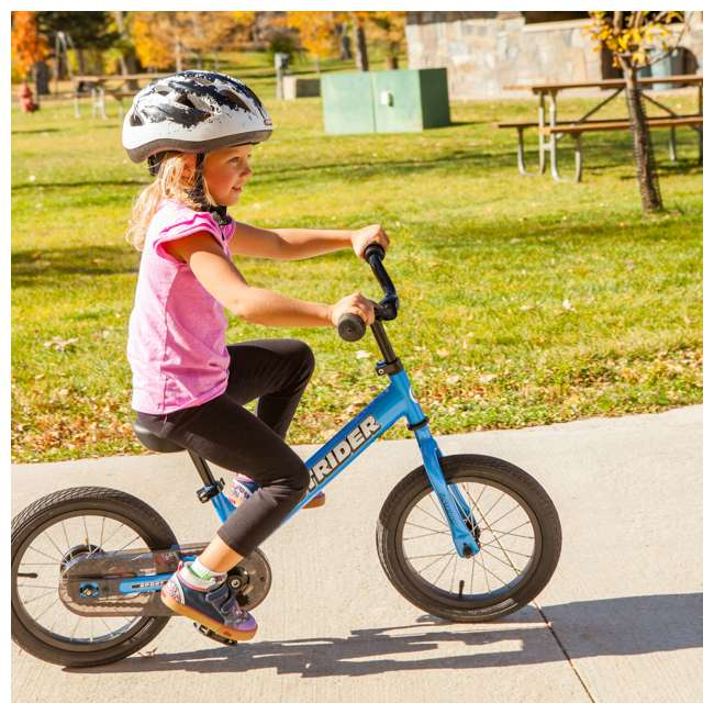 SK-SP1-US-BL-OB Strider 14x 2-in-1 Kids Balance to Pedal Bike Kit, Blue (Open Box) 4