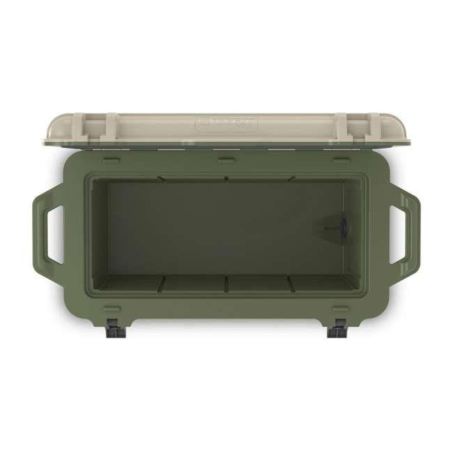77-54869 OtterBox Venture Heavy Duty Outdoor Camping Fishing Cooler 65-Quarts, Tan/Green 5