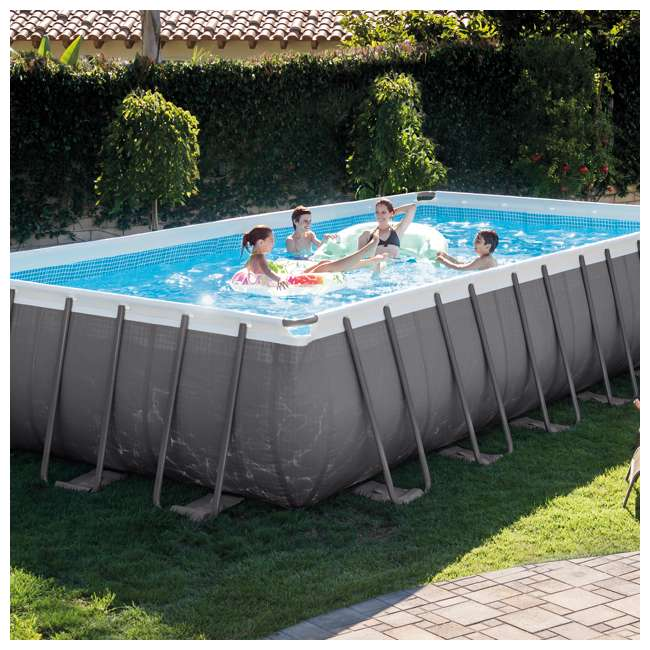 28365EH Intex 24 x 12 x 4.3 Foot Ultra Frame Pool Set with Cleaning Kit 1