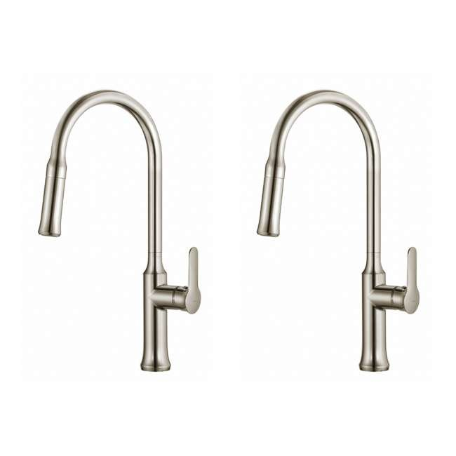 KPF-1630SS Kraus Nola Single Lever Pull-Down Kitchen Faucet, Stainless Steel (2 Pack)