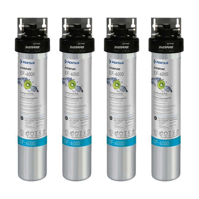 4 x EV985500 Full Flow Drinking Water Filter System for Home Faucets (4 Pack)
