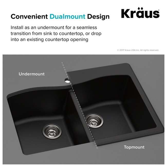 KGD-52GREY Kraus Forteza Dual-Mount Granite Kitchen Sink (2 Pack) 8
