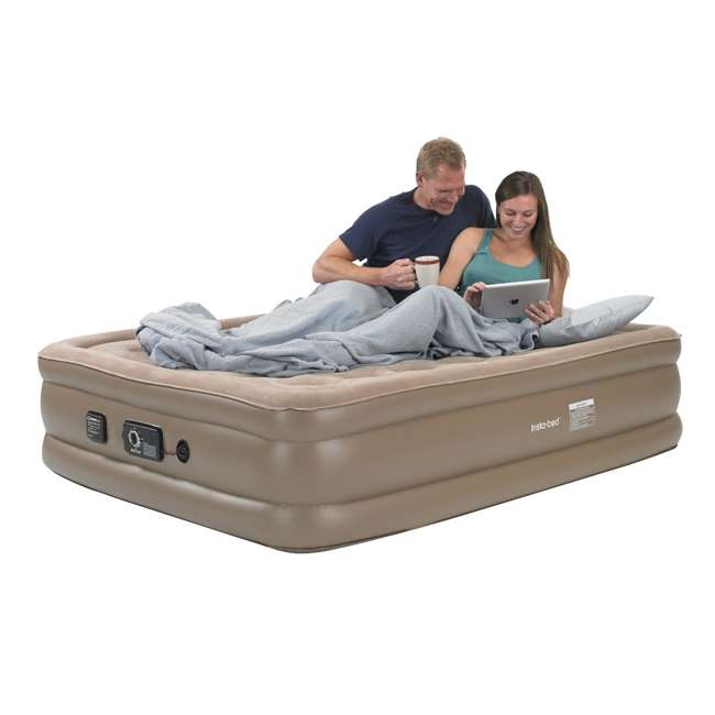 4 x 840017 InstaBed Raised Queen Air Bed Mattress w/ Air Pump 840017 | Open Box (3 Pack) 1