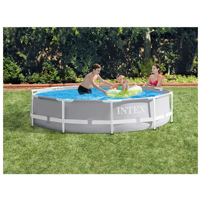 26701EH + 28030E Intex 10 Foot x 30 Inches Pool w/ 10-Foot Round Cover 5