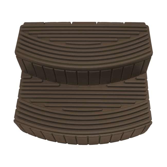 SSTEP-OAK Good Ideas Sora Steps Lightweight Plastic Outdoor & Indoor Storage Step, Oak 2