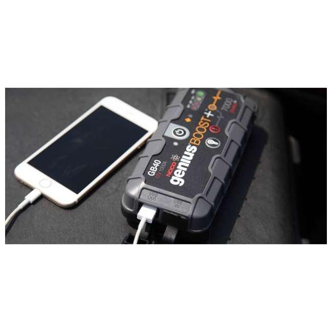 GB40 Noco Genius GB40 Boost Plus 1000-Amp UltraSafe Jump Starter 2