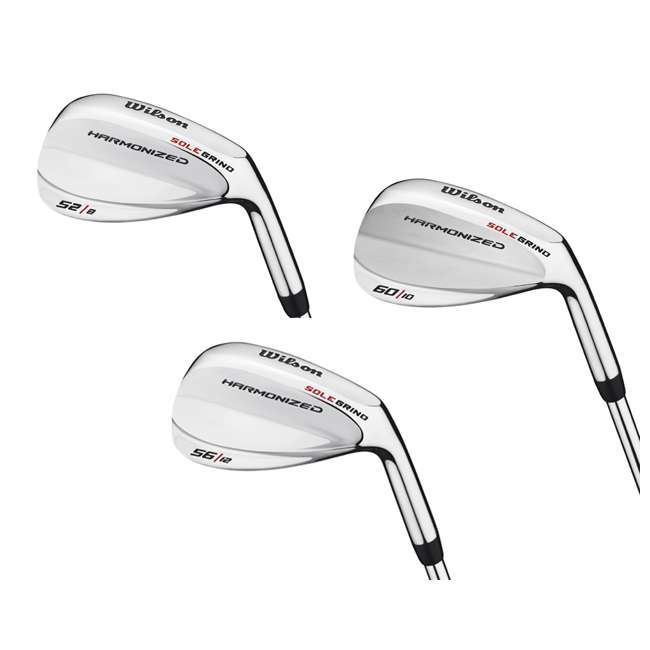 WGD615200-84-3PACK Wilson 52°, 56° & 60° Men's RH Harmonized Silver Chrome Wedge Golf Club Set