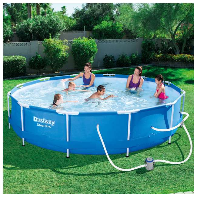 Bestway Steel Pro 12 Foot X 30 Inch Frame Pool 56417e Bw