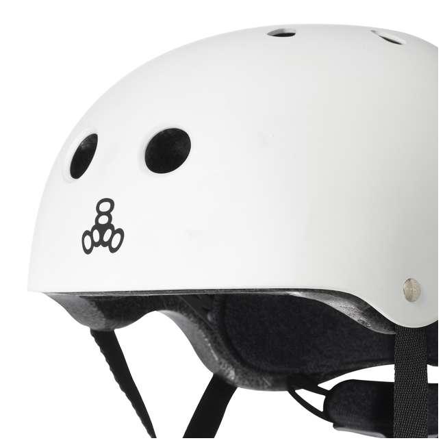 T8-3922 Triple 8 Lil 8 White Glossy Toddler Bike & Skate Helmet, 5T 1