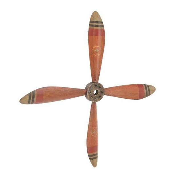 UE-93230 Deco 79 Wall Hanging Decor 34-Inch Metal Airplane Propeller 1