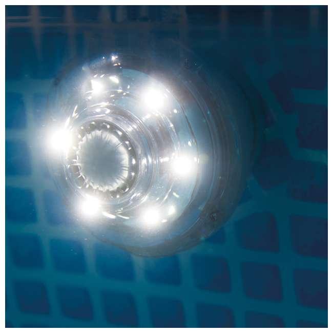 6 x 28691E Intex 1.25-Inch 0.8-Watt LED Hydroelectric Power Pool Light (6 Pack) 3