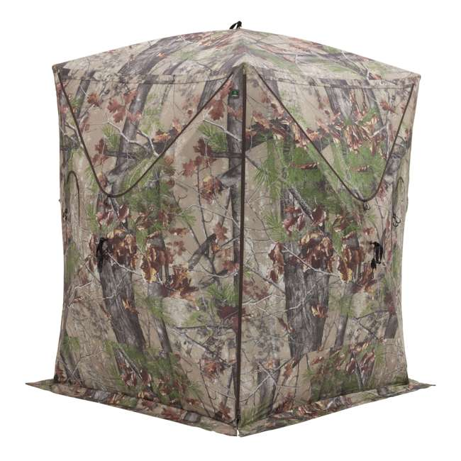 BARR-BM12BW Barronett Blinds Big Mike 2.0 Backwoods 3 Person Ground Hunting Blind (2 Pack) 3