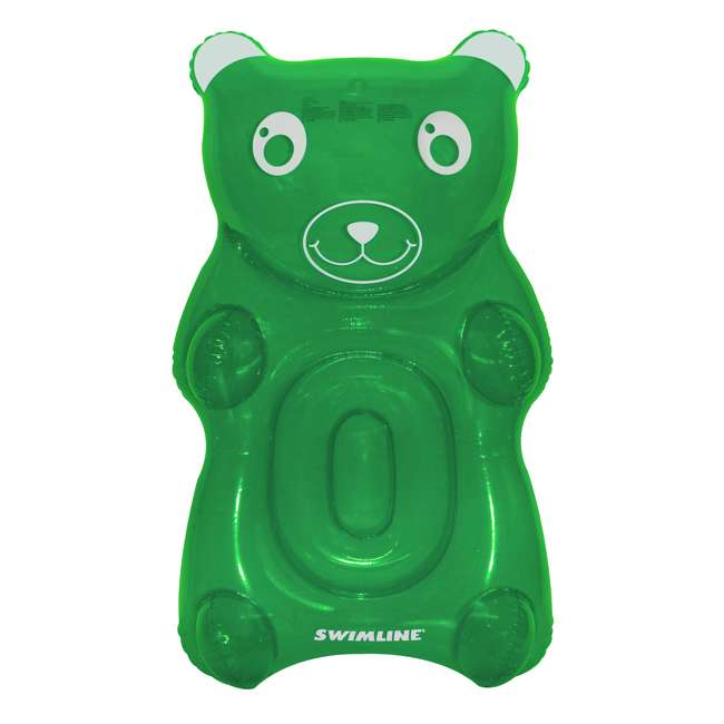 SL-90743M-U-A Swimline Inflatable GummyBear Water Float Toy for Pool and Beach (Open Box)