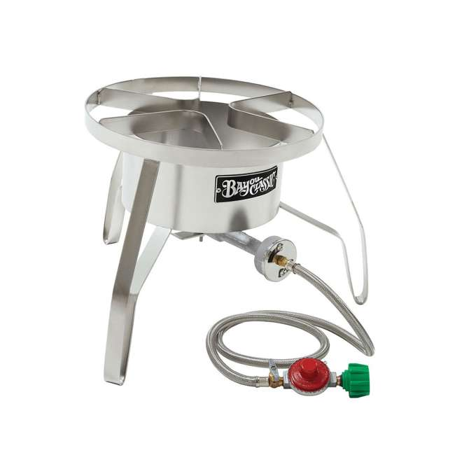 BC-SS10 Bayou Classic Stainless Steel Banjo Propane Burner 14 Inch Cooker (2 Pack) 1