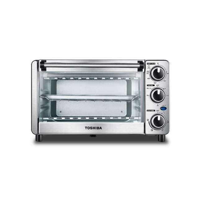 MC25CEY-SS Toshiba MC25CEY-SS 6 Slice Small Convection Pizza Toaster Oven, Stainless Steel