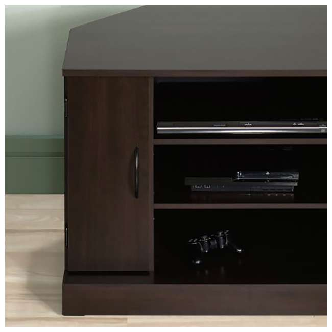 Sauder Beginnings Collection Corner Tv Stand Cinnamon Cherry Sf