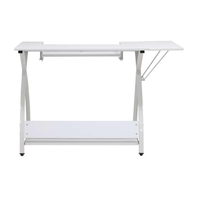 STDN-38017 Sew Ready STDN-38017 Venus Sewing Machine Craft Hobby Table Computer Desk, White 4