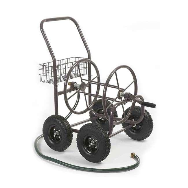 871-M1-1 Liberty Garden 871 4 Wheel 250 Foot Steel Frame Water Hose Reel Cart with Basket