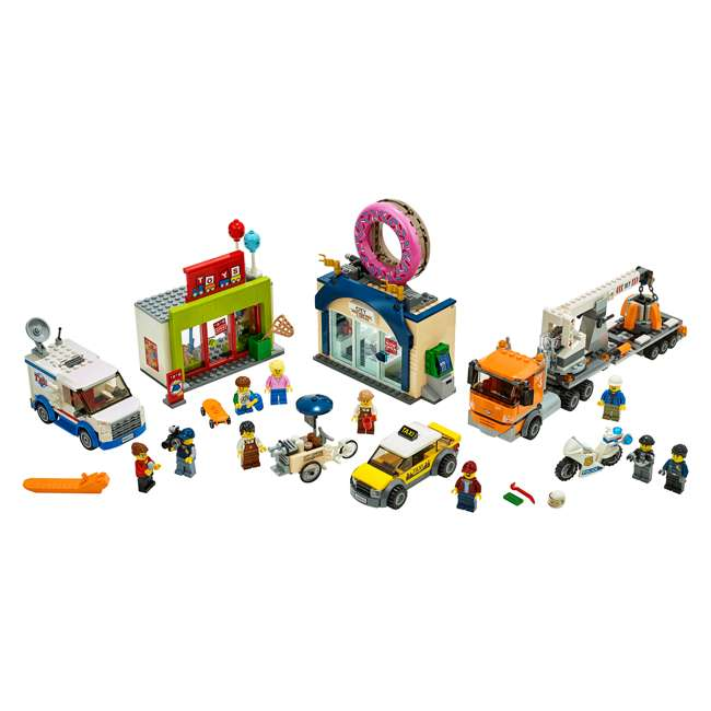 6251763 LEGO City 60233 Donut Shop Opening Town Playset Toy 790 Piece Block Building Set