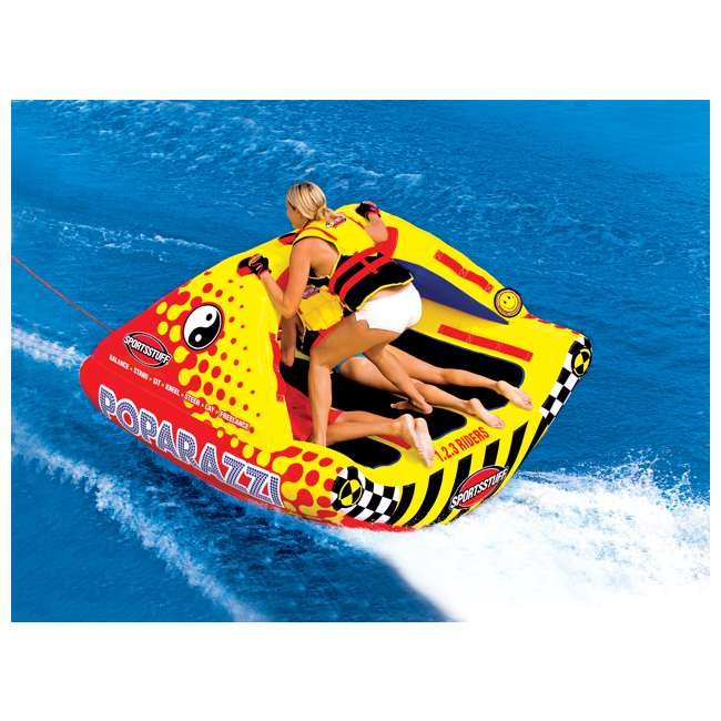 53-1750-U-A SPORTSSTUFF Poparazzi Triple Rider Inflatable Towable Boat Water Tube (Open Box) 2
