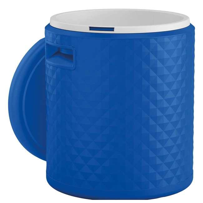 BMDC1000BD Suncast 3 in 1 Design 54 Quart Resin Cooler Side Table & Decorative Stool, Blue 2