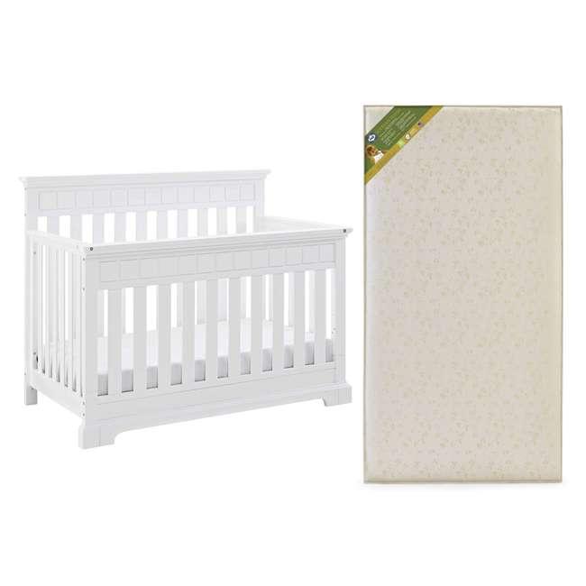04565-501 + EM711-GJL1 Thomasville Kids Willow Crib, White & Sealy Soybean Foam Crib Mattress