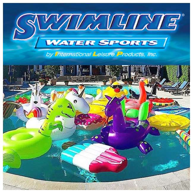 15181SF-U-B Swimline Solstice Swimming Pool Inflatable Float Cooler Couch Lounge (Used)