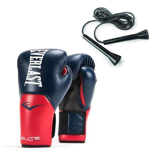 Everlast Elite Pro Style 16-Ounce Boxing Gloves & 11-Foot Jump Rope