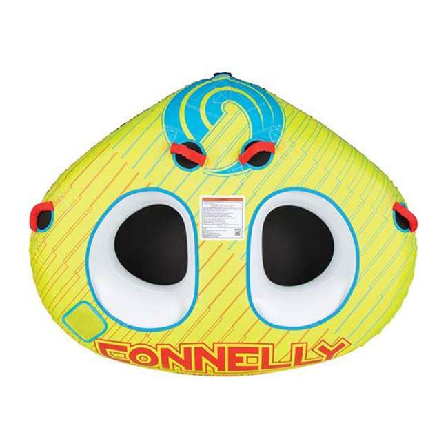 67201004-CON CWB Classic Wing 2 Durable Inflatable Towable 2 Rider Donut Water Tube, Yellow