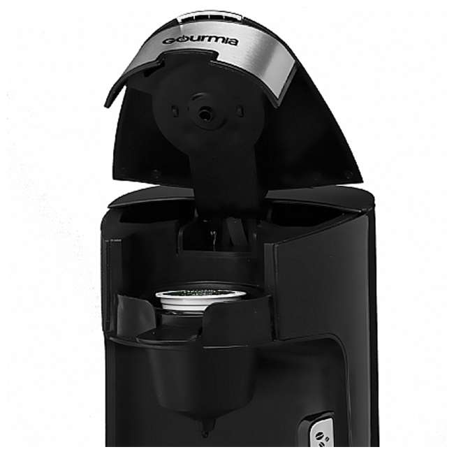GCM3600 Gourmia Automated Single Serve Coffee and Tea Brewer and Capsule Machine, Black 5
