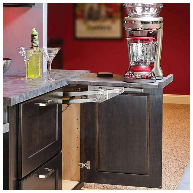 RAS-ML-HDCR Rev-A-Shelf Lift Stand Mixer Appliance Lift Mechanism for Custom Shelf, Chrome 3