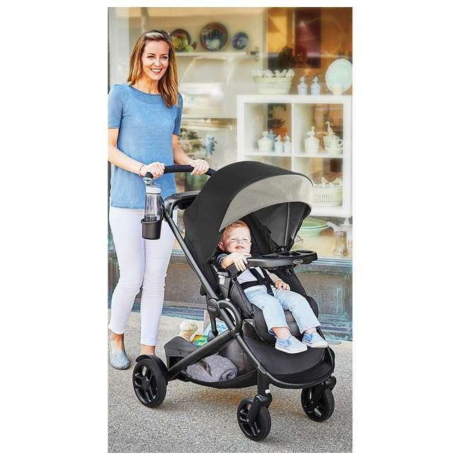2082702 Graco Modes2Grow Infant to Toddler 4 in 1 Convertible Baby Stroller, Haven Gray 2