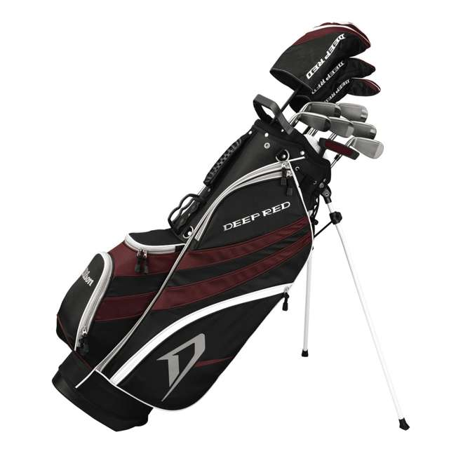 WGG157530-OB Wilson Deep Red Tour Golf Clubs Set and Golf Bag (Open Box)