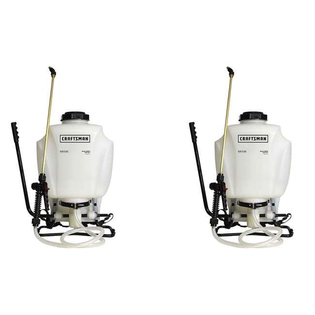 CMAN-61810 Craftsman 4-Gallon Backpack Garden Sprayer (2 Pack)