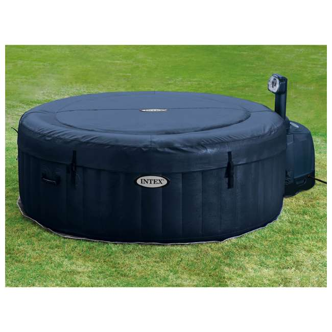 28505E + 2 x 28405E + 2 x 28502E Intex PureSpa 4-Person Inflatable Hot Tub, Slip-Resistant Seat & Foam Headrest  9
