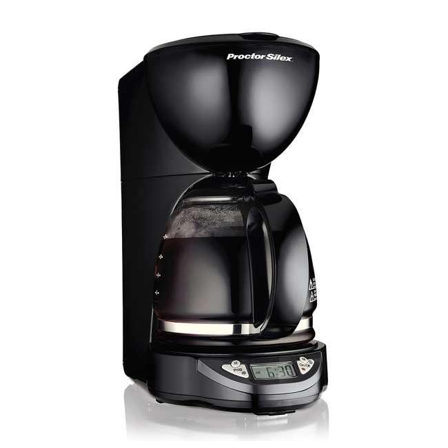 49758A Proctor Silex 12-Cup Coffee Maker, Black  1