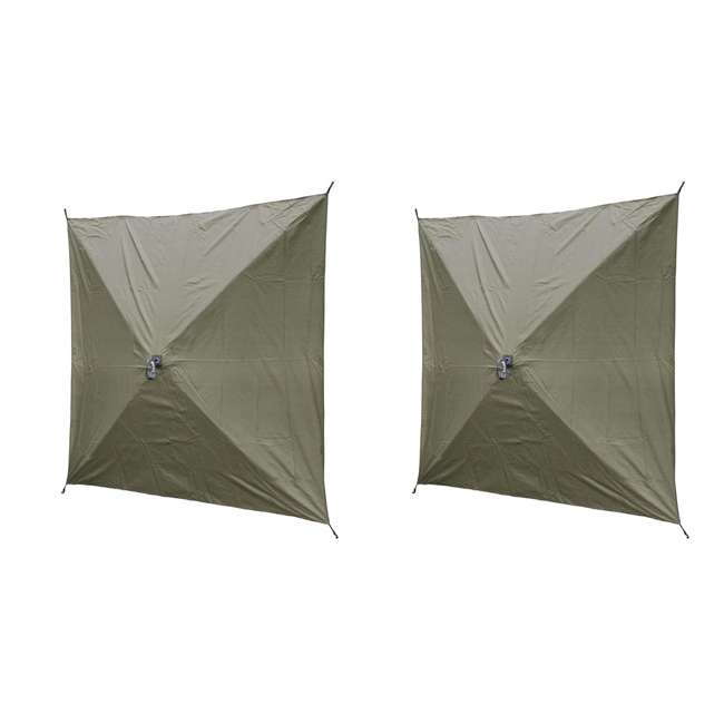 CLAM-ES-9281 + CLAM-WP-2PK-9896 Clam Quick Set Canopy Shelter + Wind & Sun Panels (2 pack) 7
