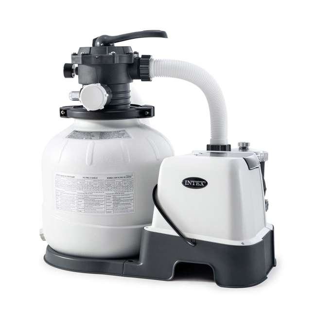 26675EG Intex 26675EG 14 Inch Krystal Clear Saltwater System and Sand Filter Pump, Gray