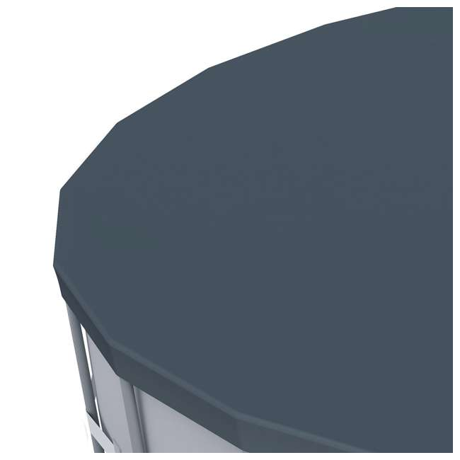 6 x 58039E-BW-U-A Bestway 18' Round PVC Pool Debris Cover for Steel ProTM Frame (Open Box)(6 Pack) 5