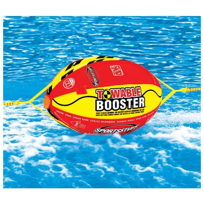 53-1329 + 53-2030 Sportsstuff 1-4 Person Boat Lake Tube | Airhead Sportsstuff Boat Tubing Booster Ball Towing System 6
