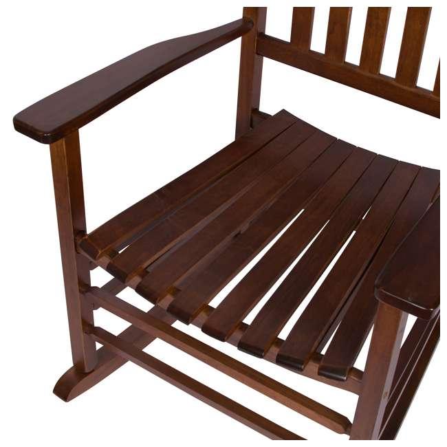 SHN-4332OA Shine Company Vermont Hardwood Outdoor Porch Patio Furniture Rocker Chair, Oak 7