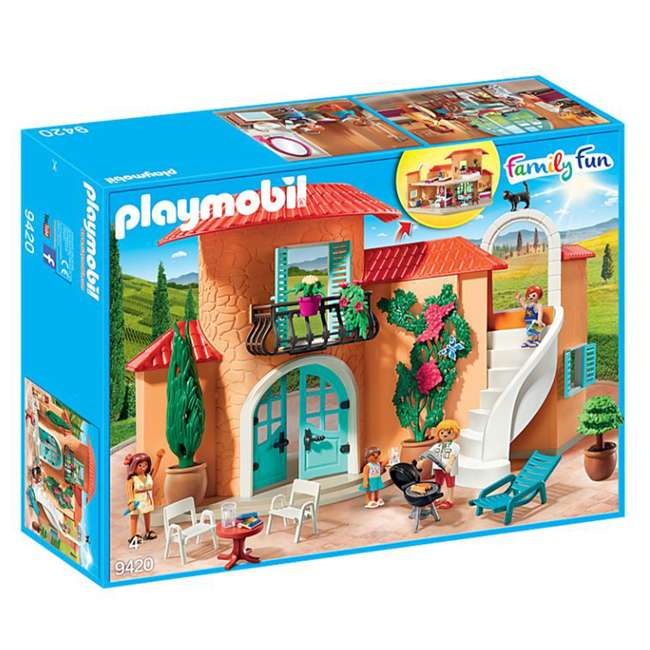 9420 Playmobil 9420 Summer Villa Interactive Doll House & Figures Play Set, Ages 4+