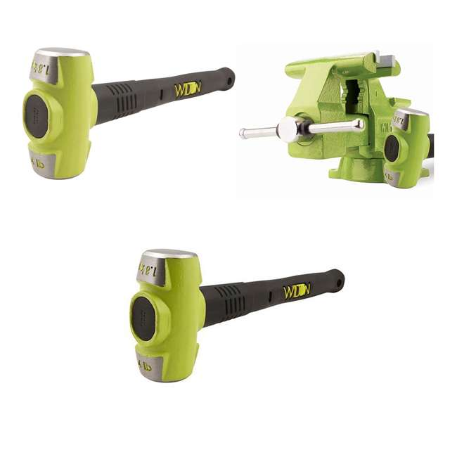 JPW-11128BH + WIL-20412 Wilton Bash 6.5 Inch Vise And 12 Inch Hammer + 4 Pound 12 Inch Sledge Hammer