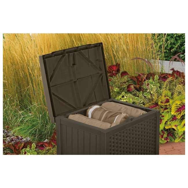 SSW900 + DBW9200 Suncast 22 Gallon Wicker Deck Box w/ Suncast 99 Gallon Wicker Resin Deck Box 3
