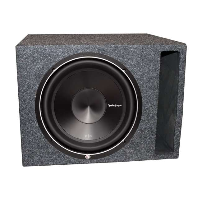 P3D4-12 + QSBASS12 Rockford Fosgate P3D412 12-Inch 1000W Subwoofer with Subwoofer Box