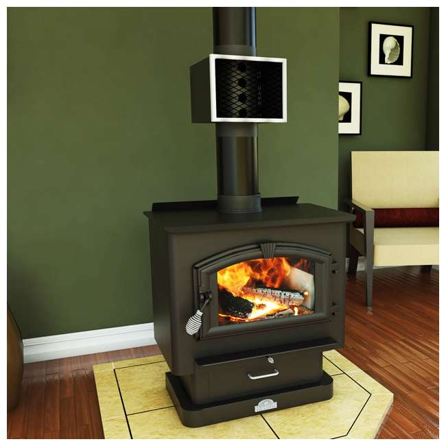 MH6 US Stove Company 6-Inch Miracle Heat Reclaimer Wood or Coal Stove Furnace, Black 2
