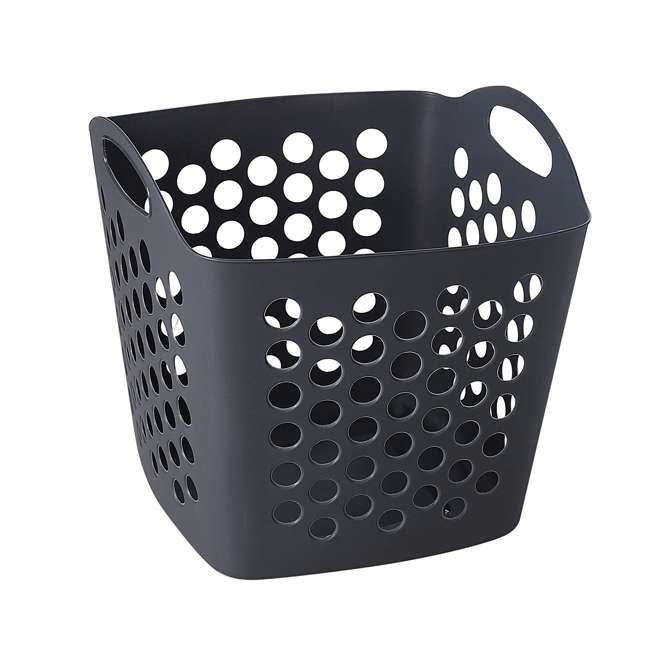 FBA32825 Ezy Storage Flexi 7 Gallon Flexible Plastic Dirty Clothes Laundry Basket Bin 3