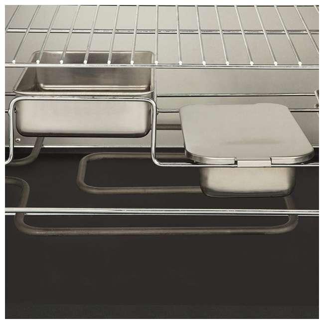 COS-330 Cuisinart 30 Inch 1500 Watt Portable Electric Smoker Grill w/ 2 Handles, Black 4