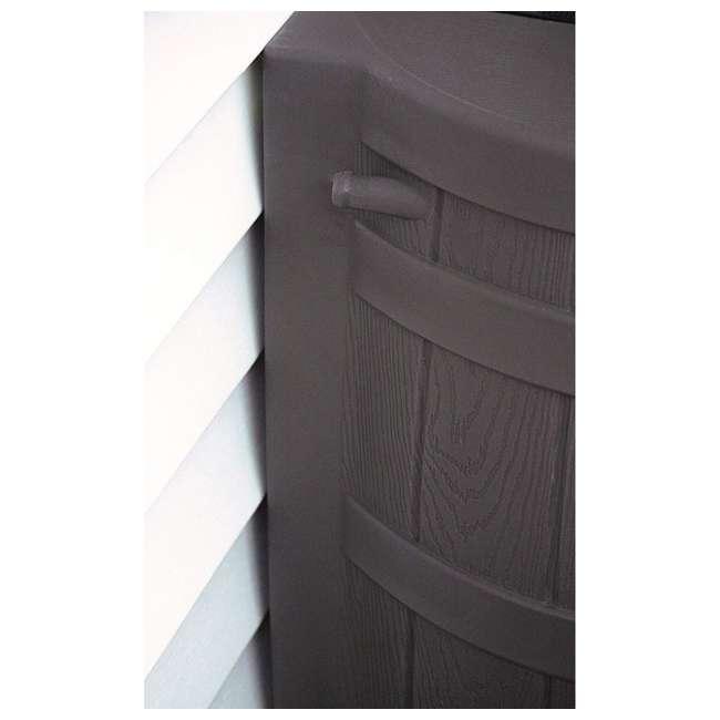 RW50-DIV-OAK Good Ideas Rain Wizard Rain Collection Barrel 50-Gallon w/ Diverter Kit, Oak 3